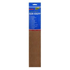 Крепированная бумага рулон, шоколадно-коричневая
