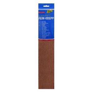 Крепированная бумага рулон, красновато-коричневая
